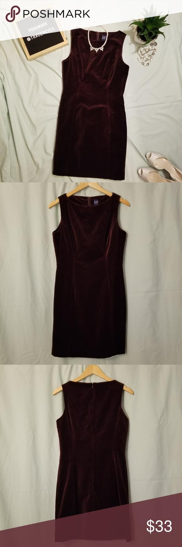 GAP Velvet Mini Dress Ärmelloses Samtkleid von NWT GAP. Wunderschöner Brombeerwein …   – My Posh Picks