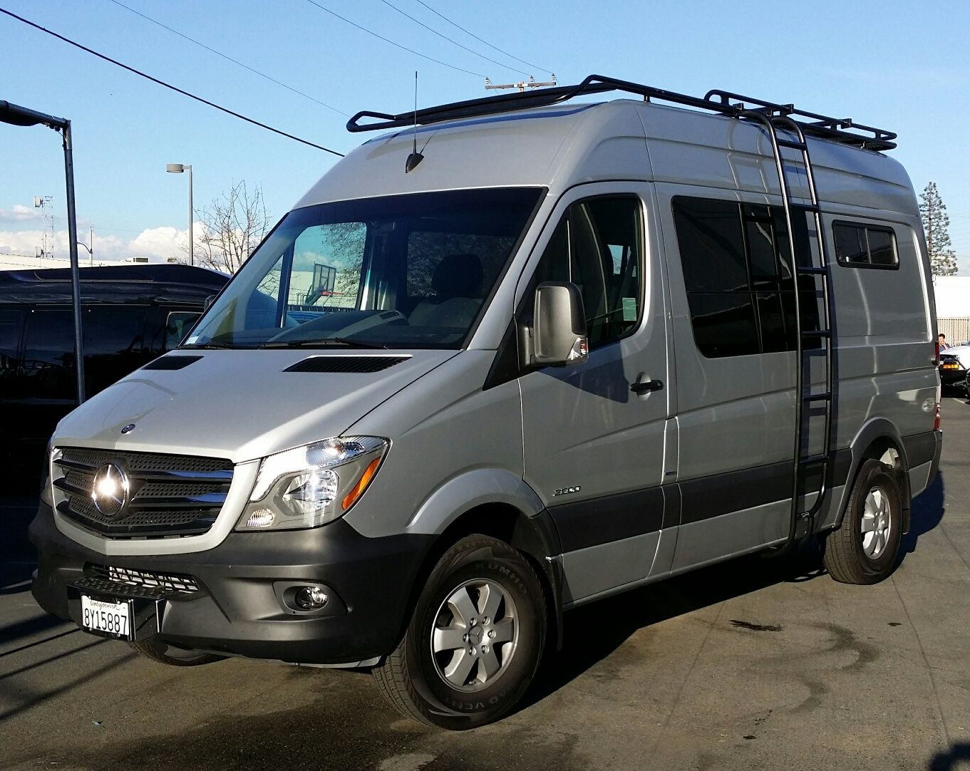 mercedes sprinter 4x4 with aluminess off road touring roof. Black Bedroom Furniture Sets. Home Design Ideas
