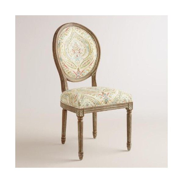 Cost Plus World Market Ogee Paisley Paige Round Back ...