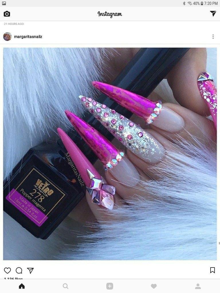 Follow @GoldenXChyna for more | NAIL$ | Pinterest | Stiletto nail ...