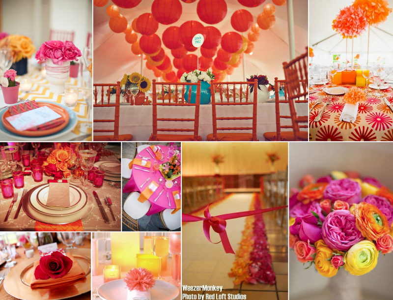 Fusion Bollywood Inc Wedding Blog: Choosing Your Wedding Color Combinations