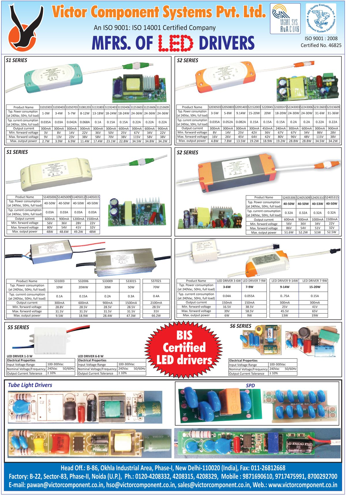 Victor Component Systems Pvt Ltd New Delhi 110020 Deals Wiring Harness Manufacturers In Led Drivers Tube Light Spd