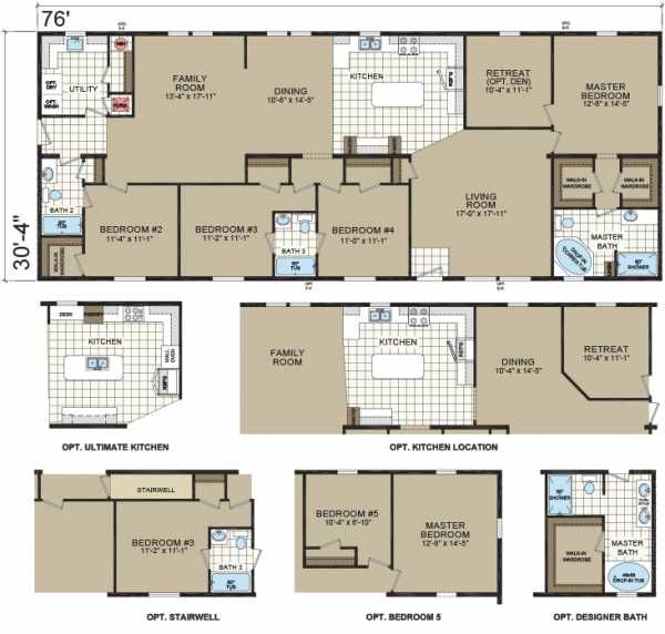 4 Bedroom Manufactured Homes: Floor Plan Of Dutch Housing Mobile / Manufactured Home Via