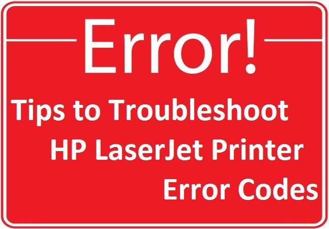 List of HP LaserJet Printer Error Codes and Troubleshooting | Apple