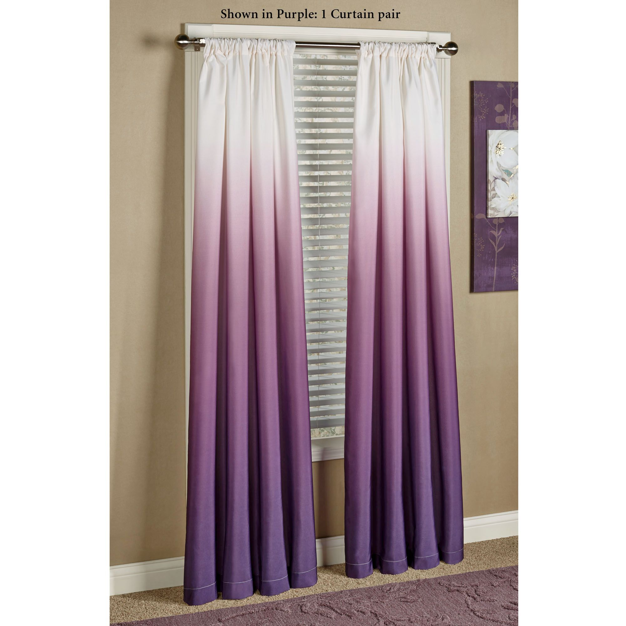 Green And Purple Curtain Panels