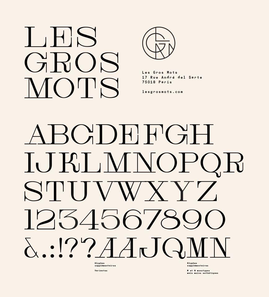 custom typeface for Les Gros Mots by Violaine & Jérémy
