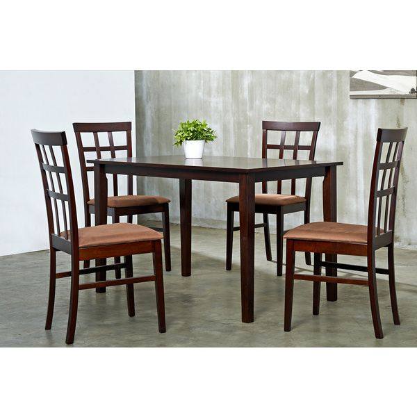 Ordinaire Warehouse Of Tiffany Justin Brown Sugar 5 Piece Dining Furniture Set By  Warehouse Of Tiffany
