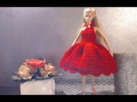VESTITO BARBIE 1 TUTORIAL versione 1  ballerina uncinetto - YouTube