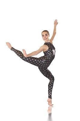 a8e6eebb2 IN STOCK Black Glitter Print Unitard Dance Costume Jazz Contemporary ...