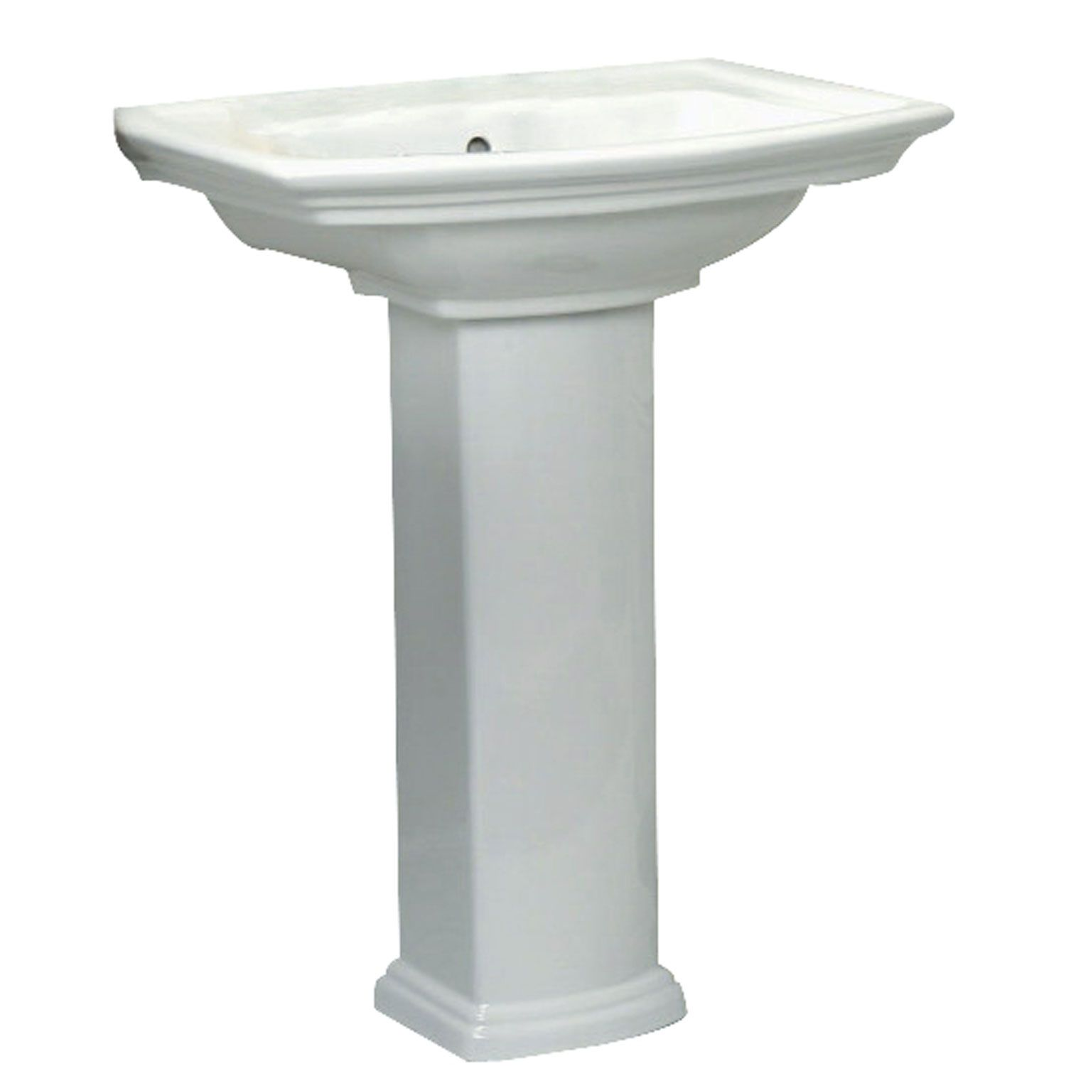 Barclay Products Washington White 550 Pedestal Sink 8 Inch