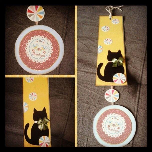 Marcador de página gatinho #bookmark