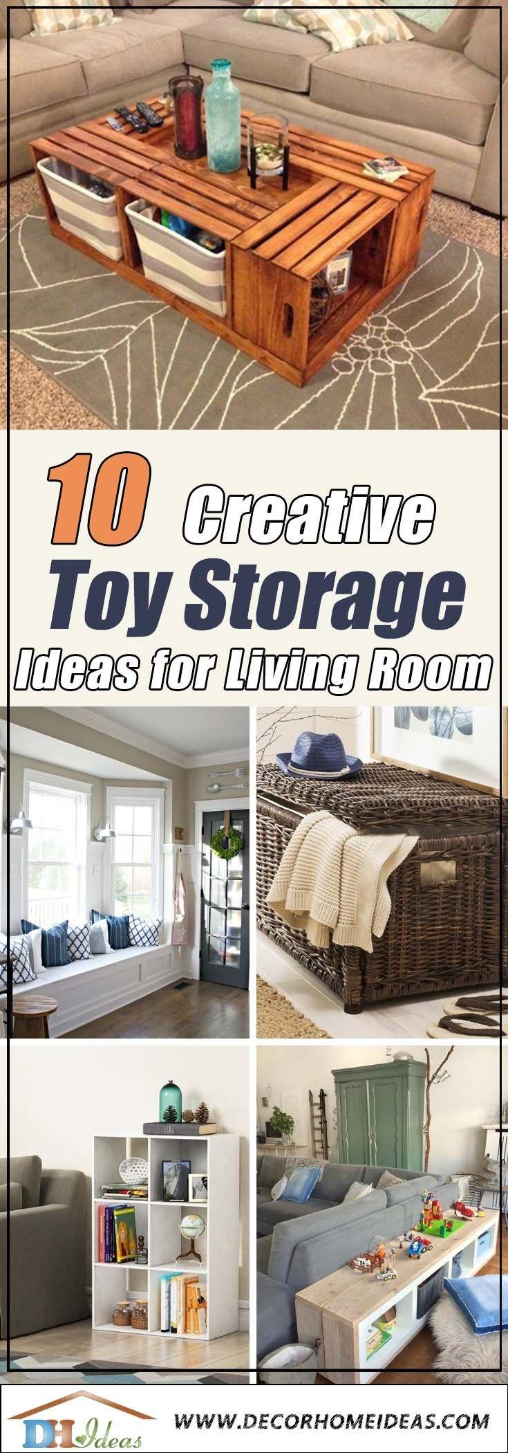 82 Creative Toy Storage Ideas Living Room Living Room