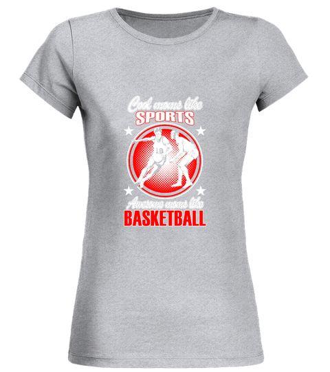 Basketball Rundhals T-Shirt Frauen basketball tshirts, basketball ...