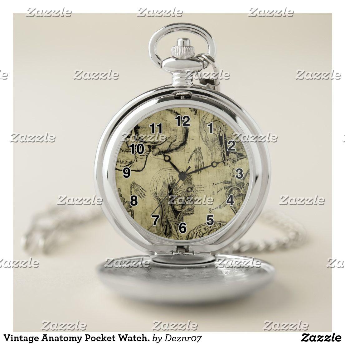 0bcbc9319 Vintage Anatomy Pocket Watch. Pocket Watch | Zazzle.com | Pocket ...