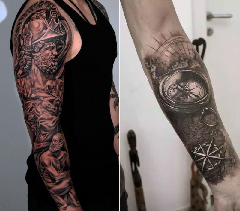 quel tatouage bras homme est fait pour vous 50 id es en styles vari s tatouage bras. Black Bedroom Furniture Sets. Home Design Ideas