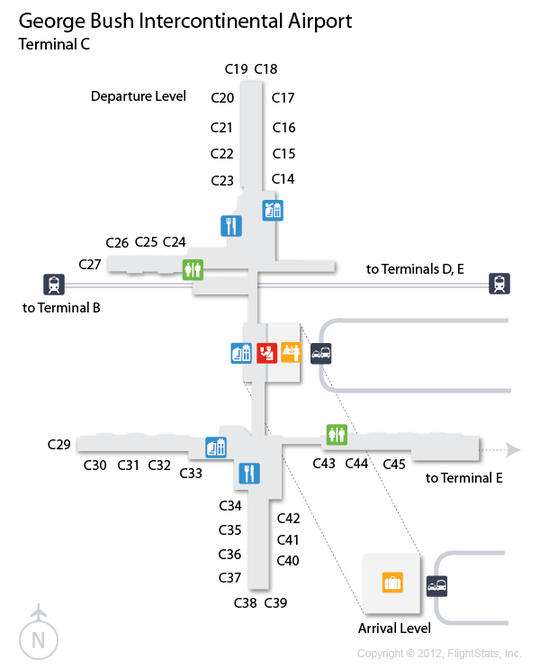 IAH) George Bush Intercontinental Airport Terminal Map | airports