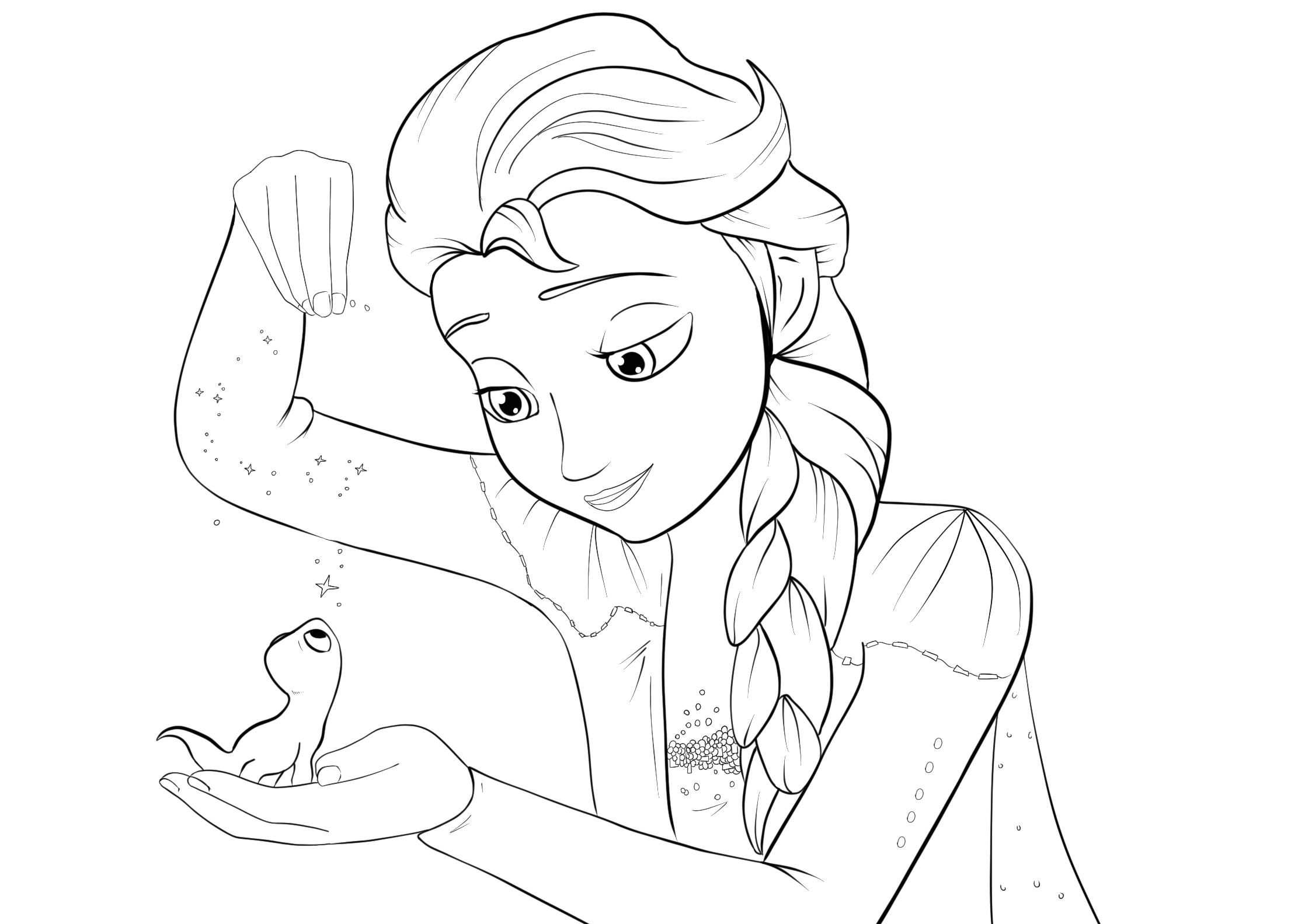 Elsa Frozen 2 Coloring Page