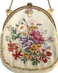 Antique French Petit Point Bag