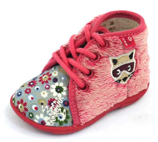 Chaussons fille a lacets rouge/rose APACHE 90056 - GBB