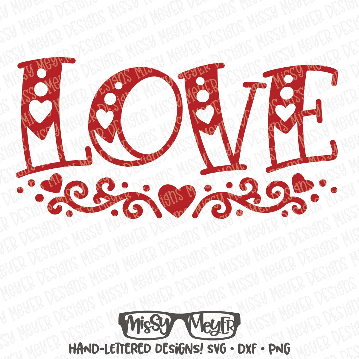 SVG HandLettered Love with Flourishes (With images