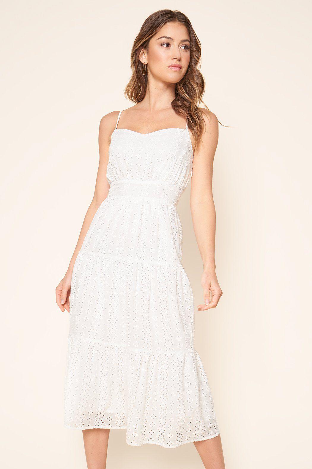Rilo Eyelet Midi Dress In 2021 Dresses White Corset Dress White Midi Dress [ 1575 x 1050 Pixel ]