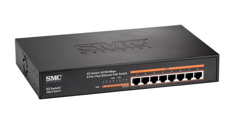 Smcfs801p Fast Ethernet 8 Ports High Power Up To 30w Per Port Poe Enabled Switch Wireless Surveillance System Wireless Home Security Systems Wireless Router