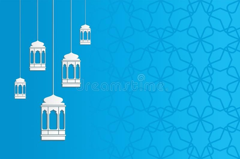 Ramadan Kareem Background In Paper Craft Style Wih Lanterns And Blue Color Ad Paper Craft Backg Islamic Wallpaper Hd Ramadan Kareem Islamic Wallpaper