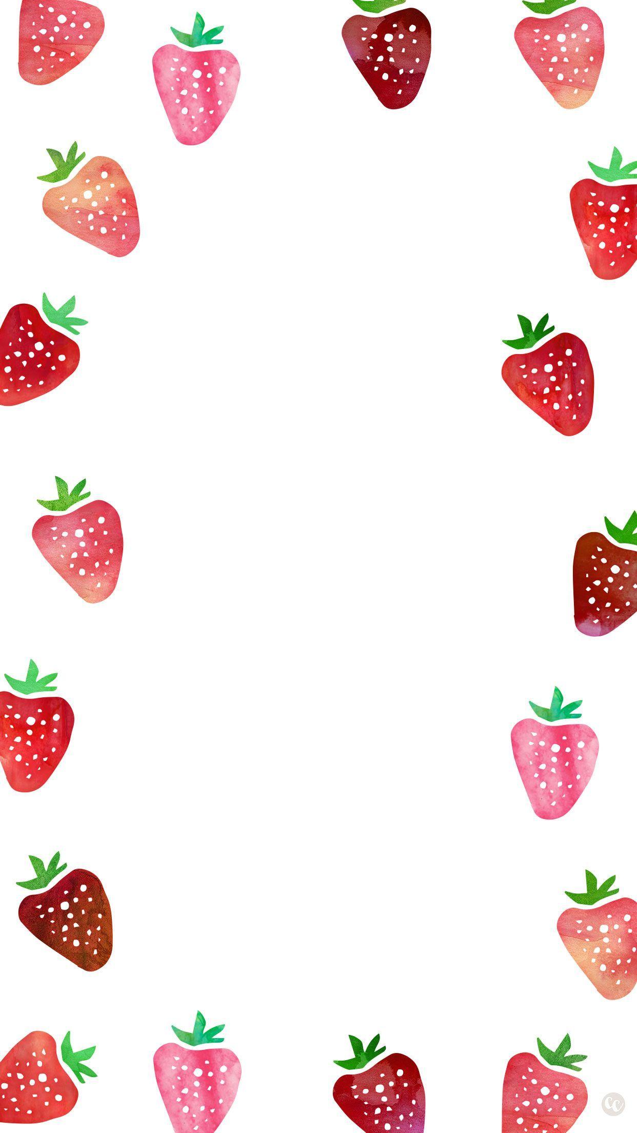 Free Wallpaper Downloads Strawberries Ipad Wallpaper Watercolor Cute Wallpapers For Ipad Smartphone Wallpaper