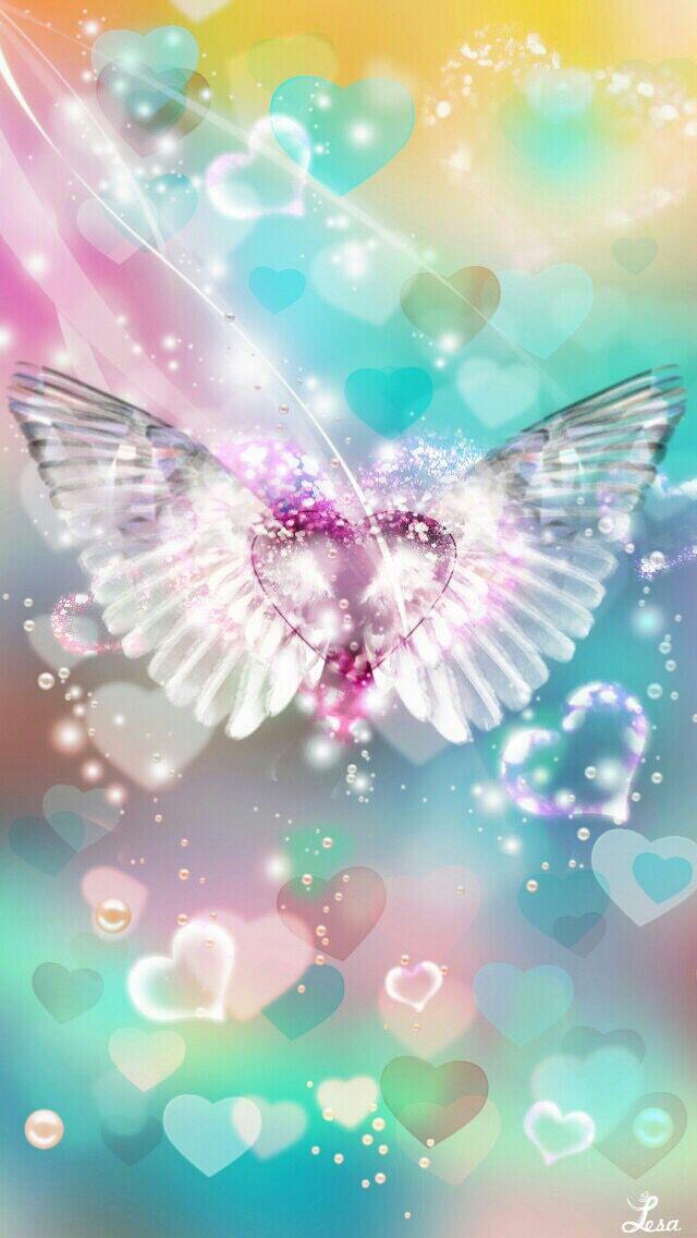 Wings of love Angel wallpaper, Heart wallpaper