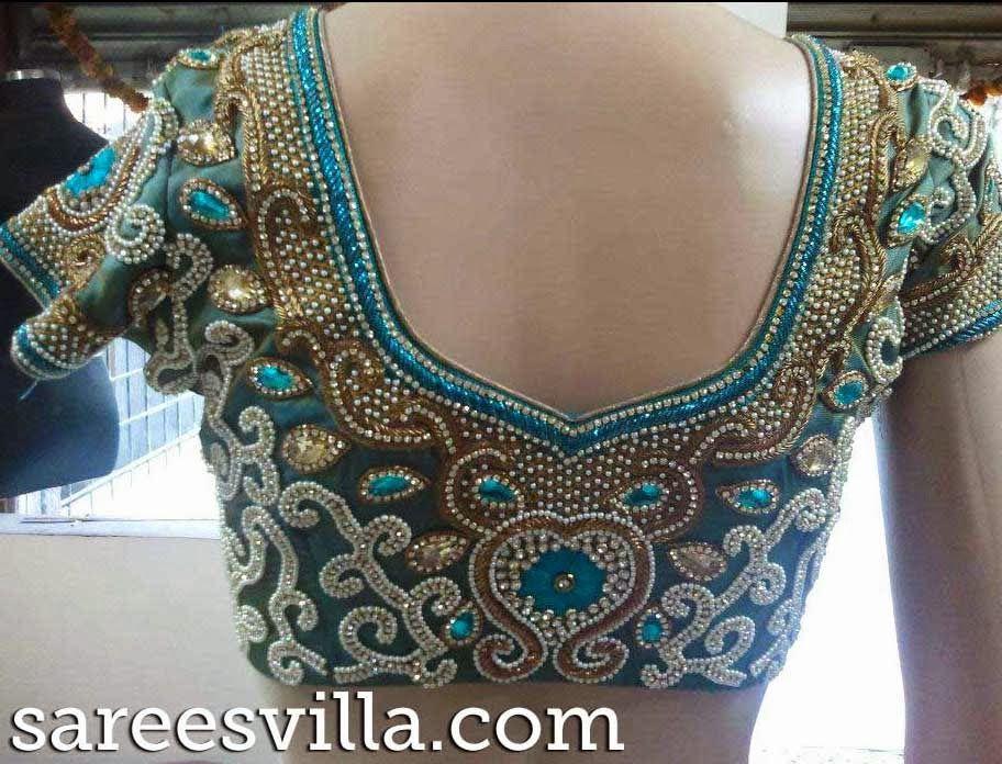 Zardosi Work blouses | Sarees Villa | vaidu | Pinterest | Work ...