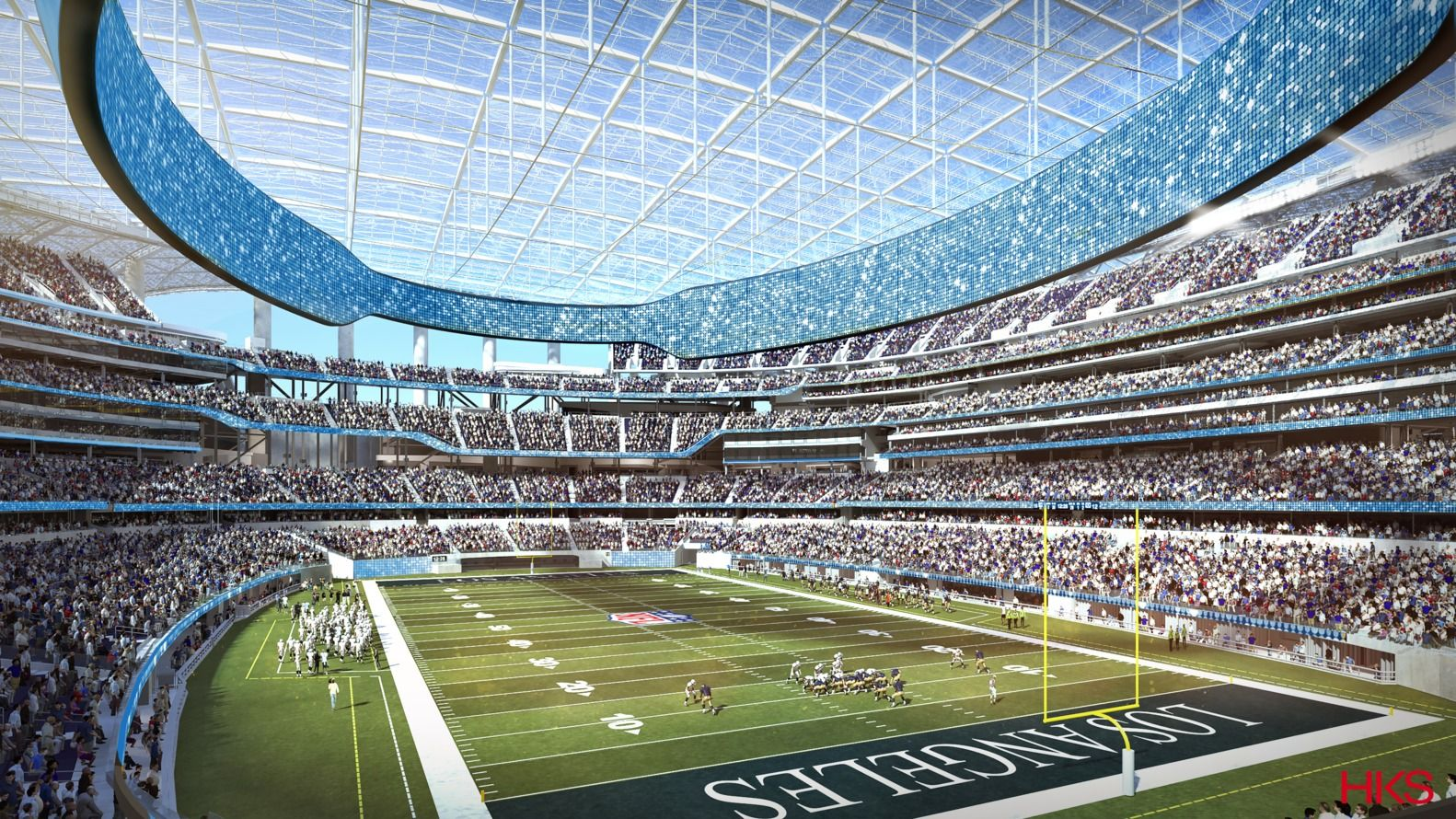 Gallery Of Hks Designed L A Stadium Will Be The Largest In The Nfl 4 Nfl Stadiums Sports Stadium Football Stadiums