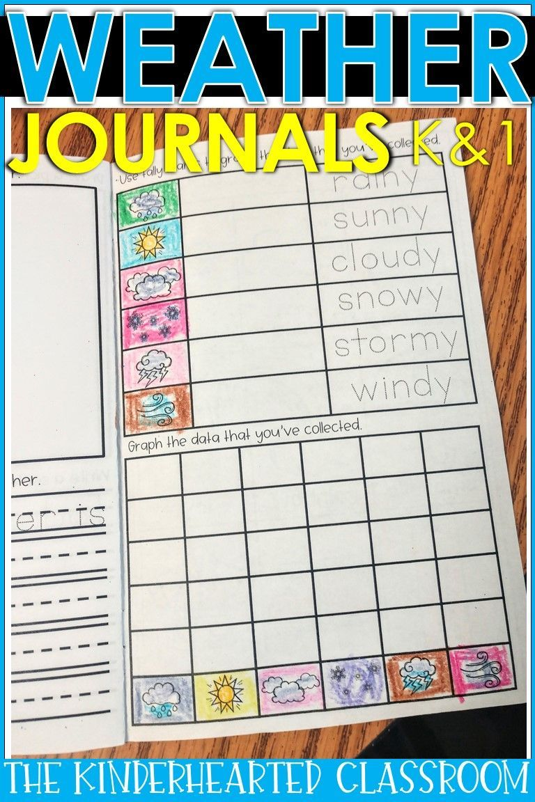 Weather Journal and Data Collection for Kindergarten and