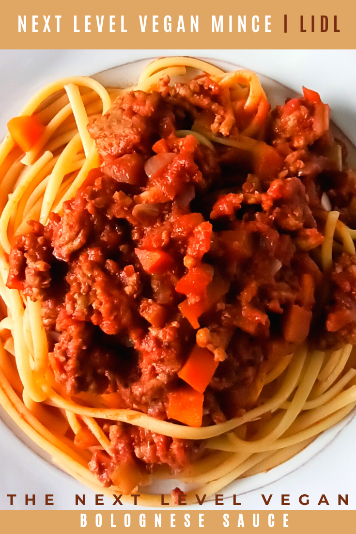 The Next Level Bolognese Sauce Next Level Vegan Minced Meat Lidl Recipe In 2020 Vegetarian Pasta Recipes Vegan Mince Bolognese Sauce