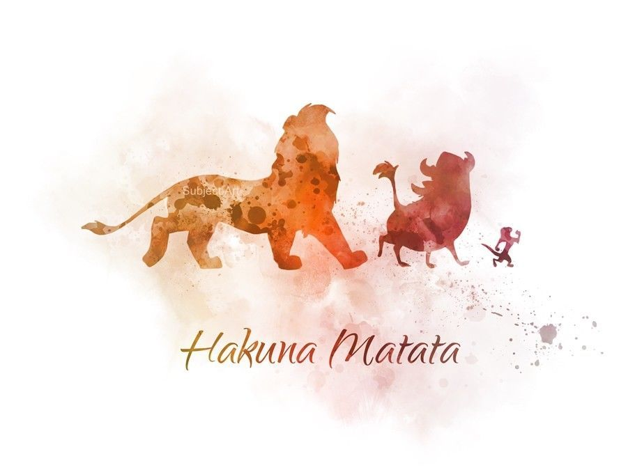 Gift Disney ART PRINT The Lion King Hakuna Matata Quote Wall Art Nursery