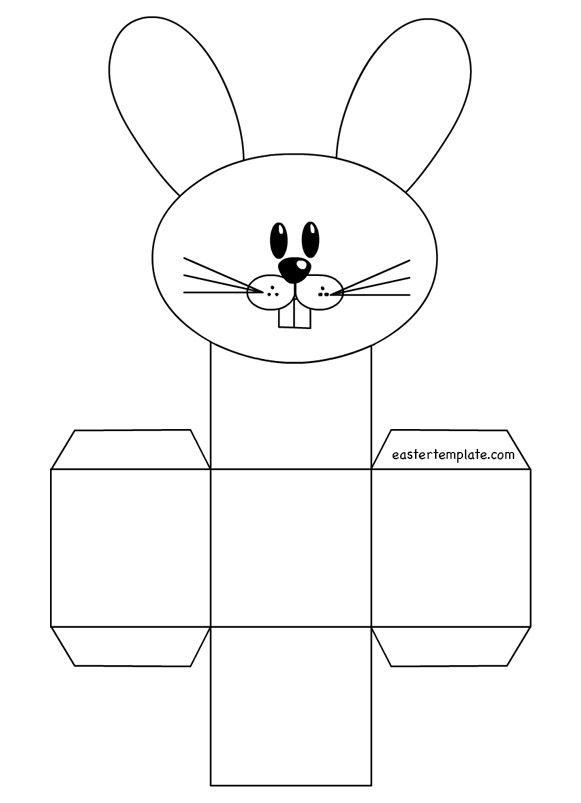 rabbit-box-template craft holiday Pinterest Box templates - resume rabbit