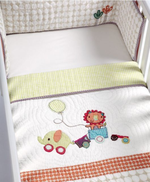 Giraffe Luxury 3 Piece Embroidery Cot 120x60 cm Bedding Bumper Set