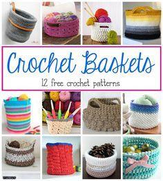 Crochet Baskets...12 Pretty Ways To Organize! Fiber Flux