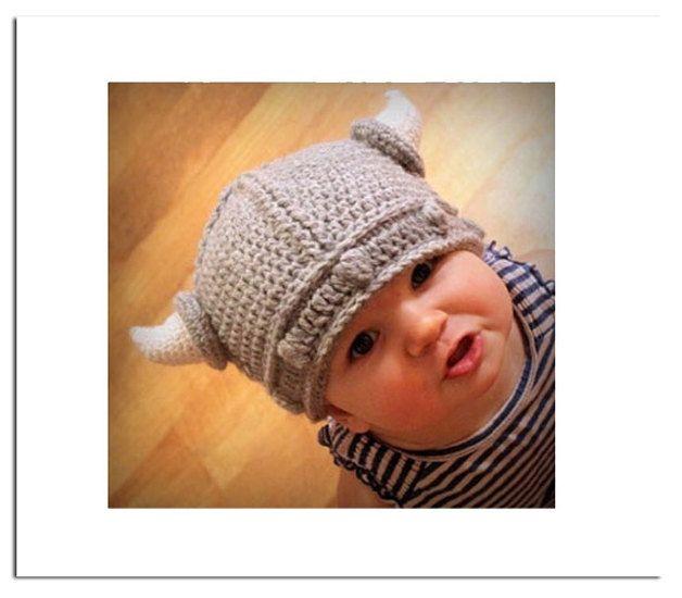 Wikinger-Mütze für kleine Helden -Babygröße | Gehäkelte mützen ...