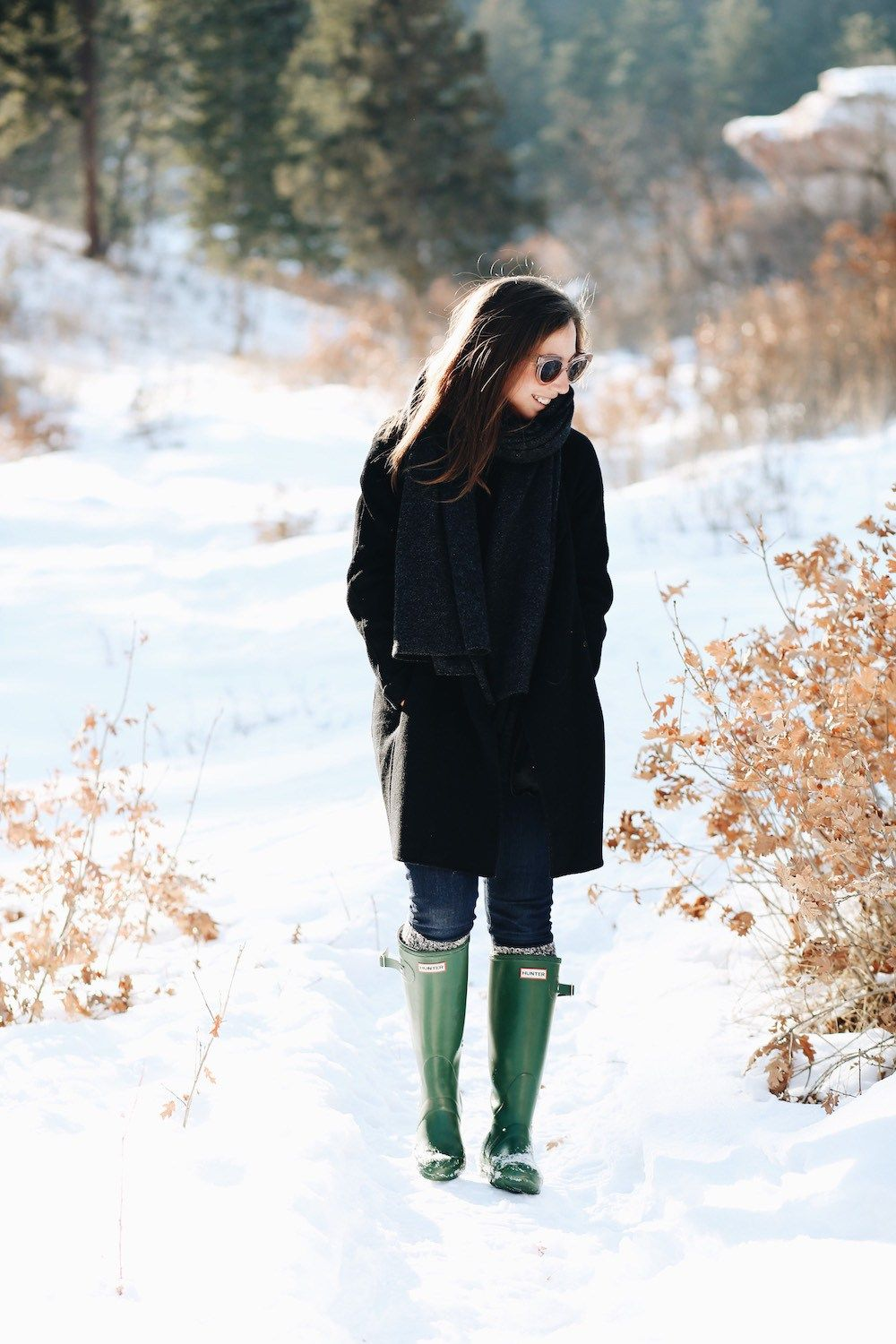 How To Style Hunter Boots Winter Fashion | Hunter boots