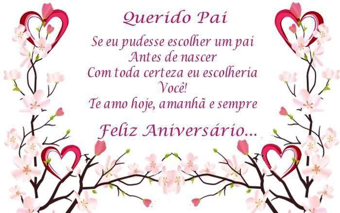 Querido Pai Te Amo Hoje Amanhã E Sempre Feliz Aniversário