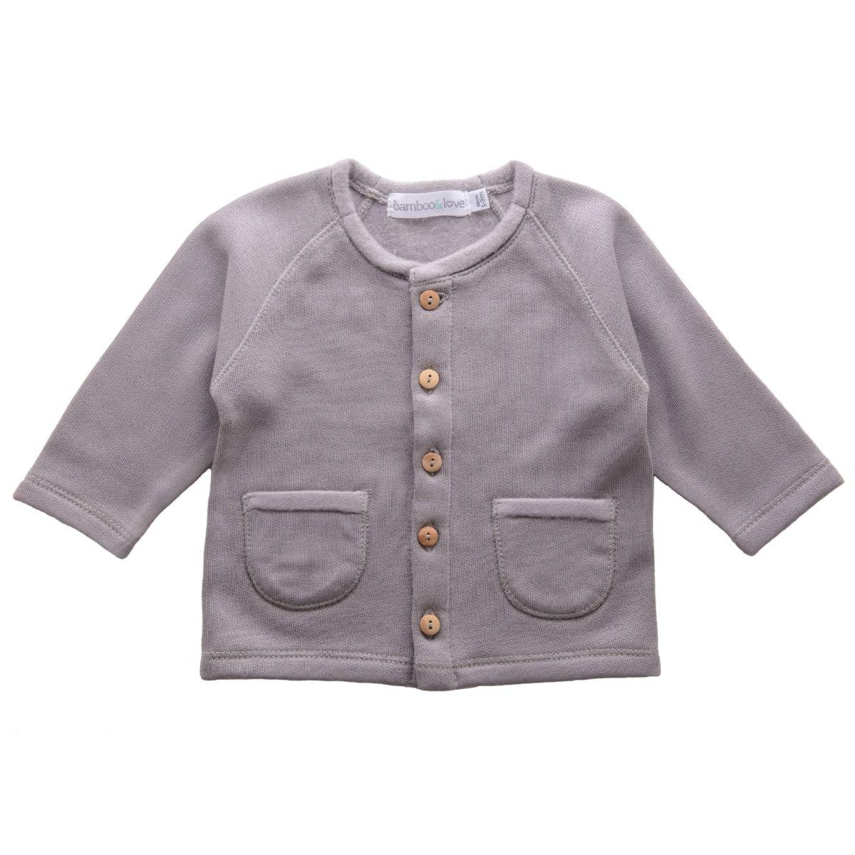 Grey Fleece Cardigan | Bamboo&Love at @Kide | AW 17 | Newborn ...