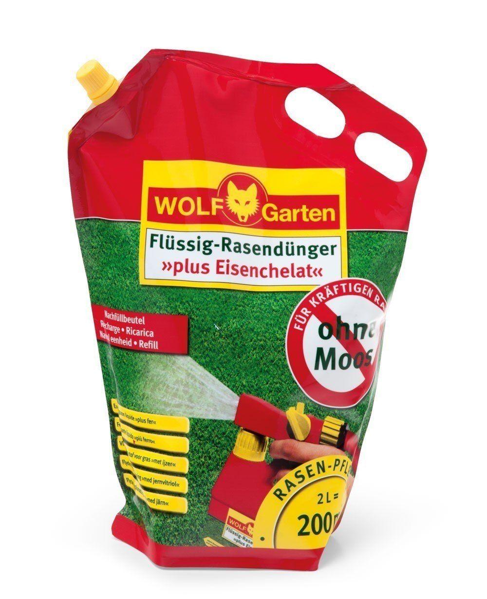 Wolf Garten Flüssig Dünger Plus Eisenchelat Set Lm200r 200 M² 2 L