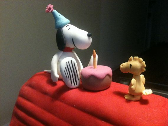 Edible Snoopy Birthday Cake Topper by DolceCreazione on Etsy 4500