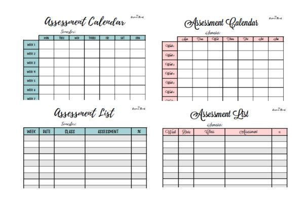 Why You Need An Assessment Calendar For University Bullet