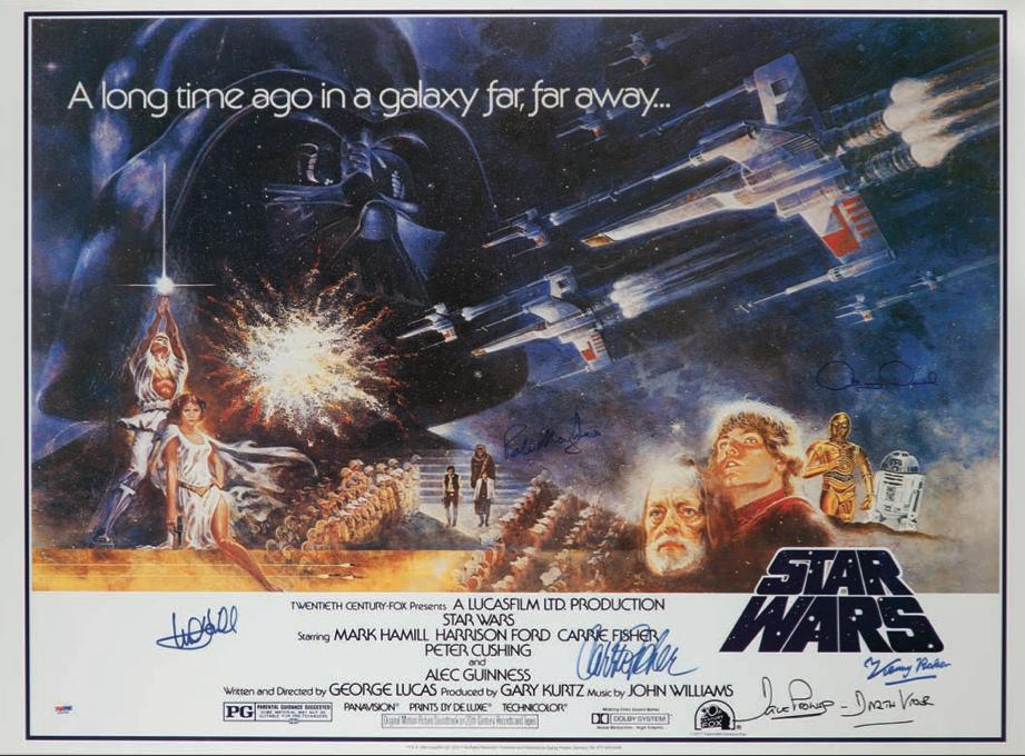 Signed Star Wars poster original   Favorite Films   Pinterest