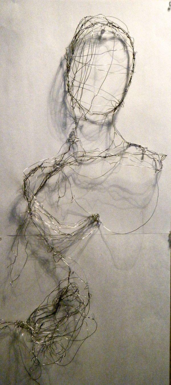 Wire art by elizabeth zator via behance deformality pinterest