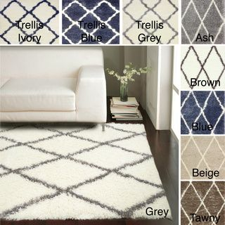 nuloom soft and plush moroccan trellis shag rug (4' x 6') by