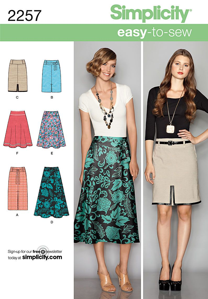 Here is a nice, simple spring skirt to sew! | Patterns | Pinterest ...