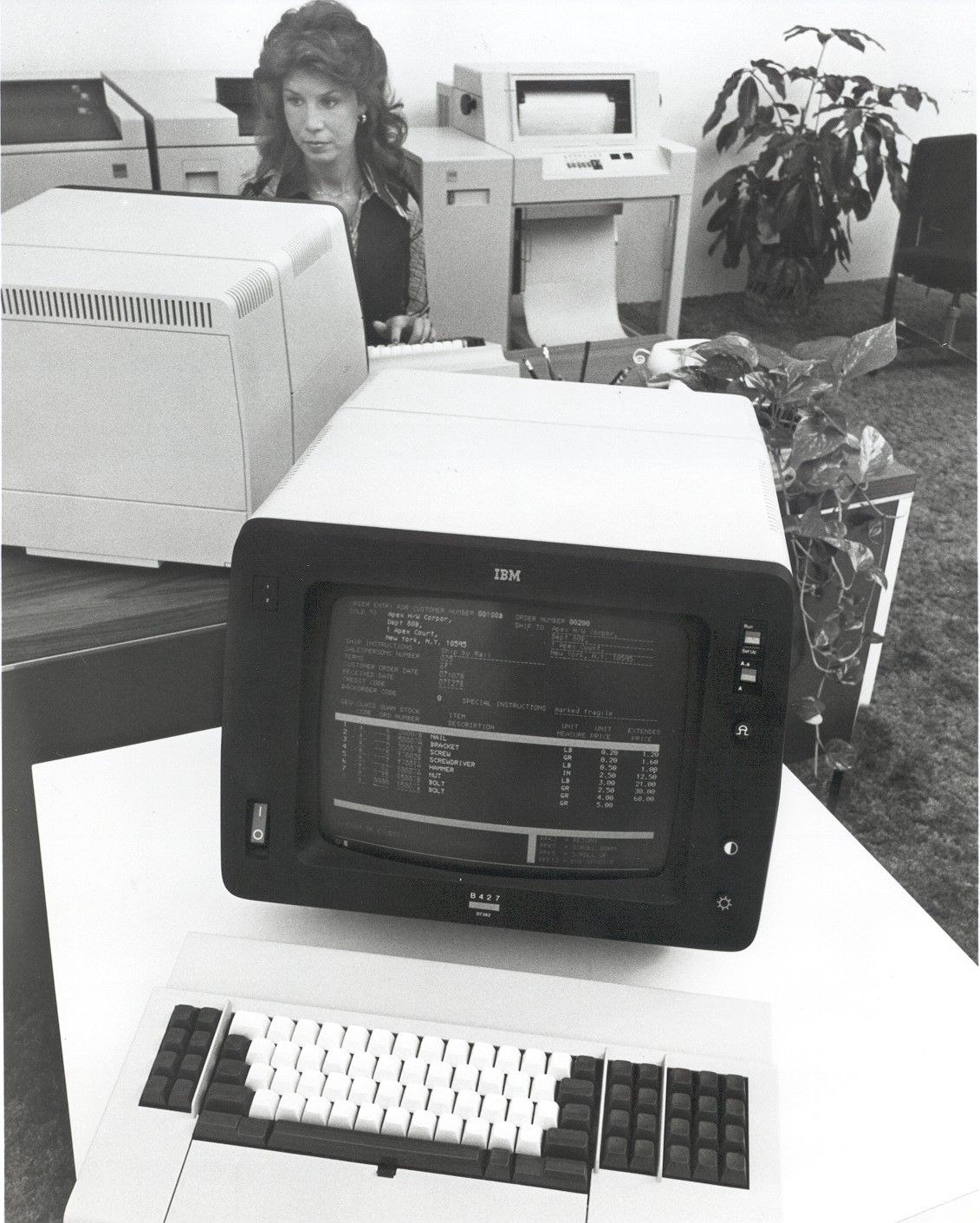 The IBM 8775 display terminal,...