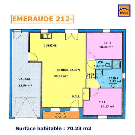Plan Maison Plain Pied 85m2 2 Chambres N Hesitez Pas A Nous Suivre En 2020 Plan Maison Plain Pied Plan Maison 2 Chambres Maison Plain Pied